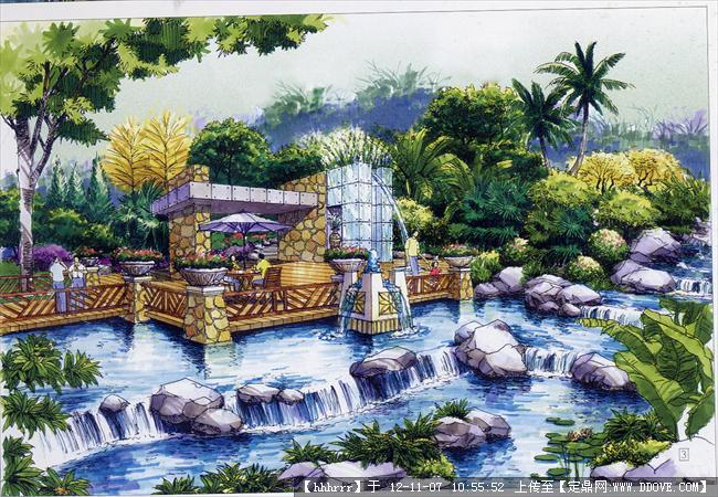 景观手绘效果图的下载地址,园林效果图,手绘效果,园林