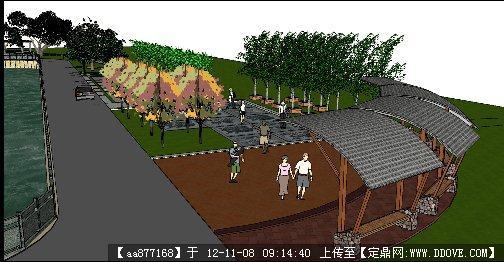 滨水公园项目景观设计方案su精美场景模型