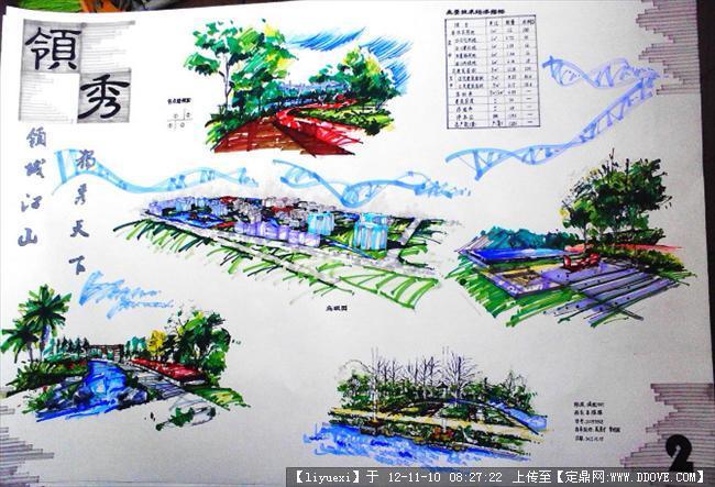 居住区规划手绘图