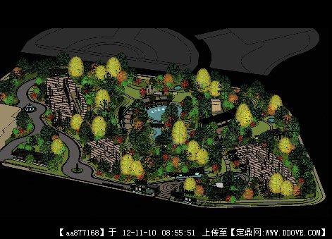 东南亚风格的酒店景观设计方案su大场景精美模型