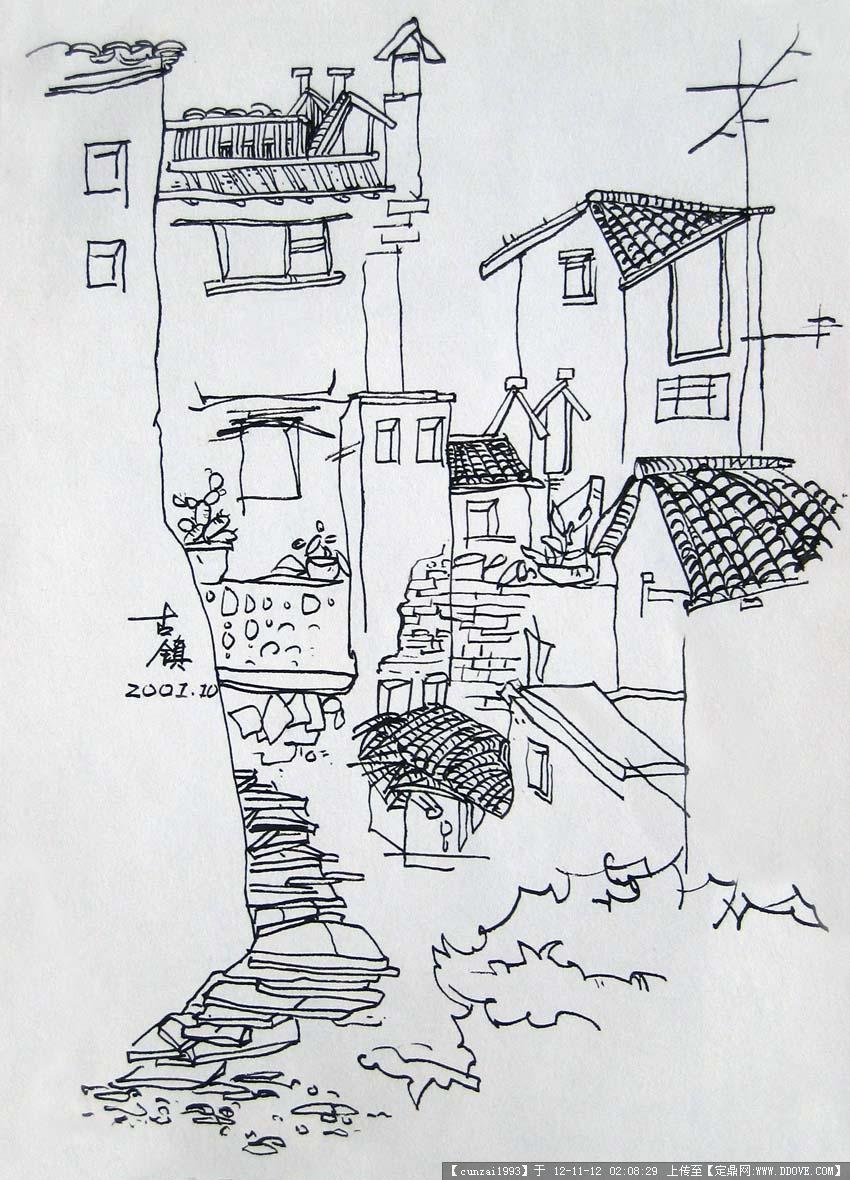 线稿和马克的手绘表现