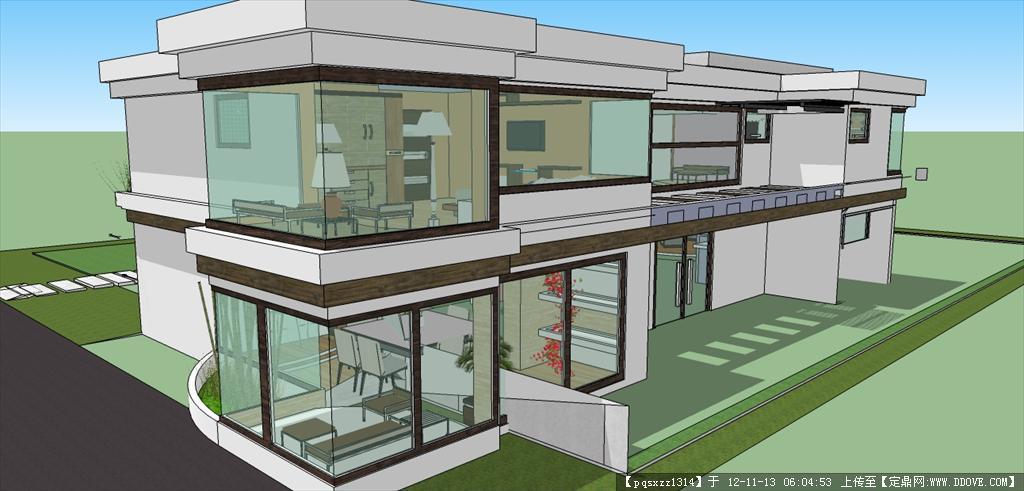 别墅草图模型()