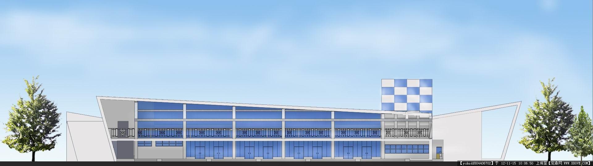汽车站建筑设计方案带效果图-北立面完成psd.jpg