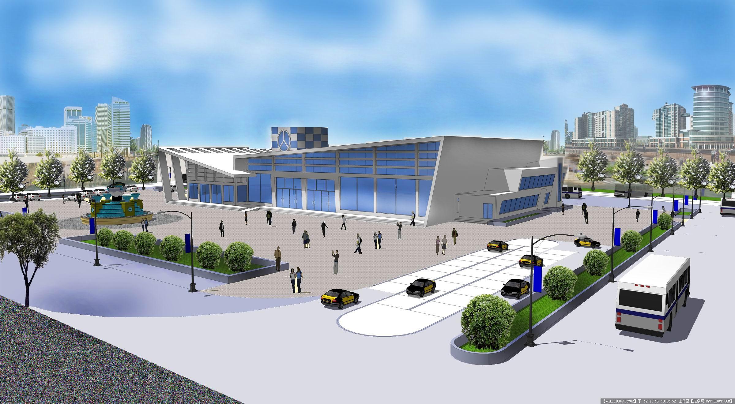 汽车站建筑设计方案带效果图
