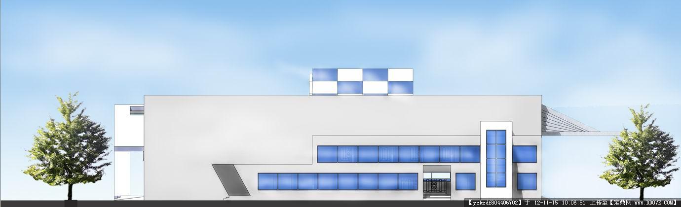汽车站建筑设计方案带效果图-东立面完成.jpg 原始尺寸:1380 * 420