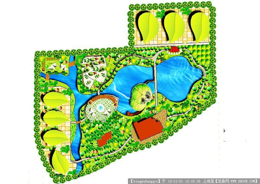 某公园的设计平面图