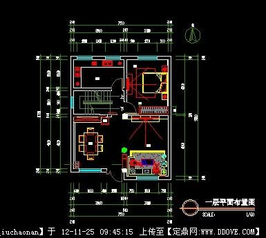 别墅室内设计cad套图的下载地址,室内方案图纸,住宅,.