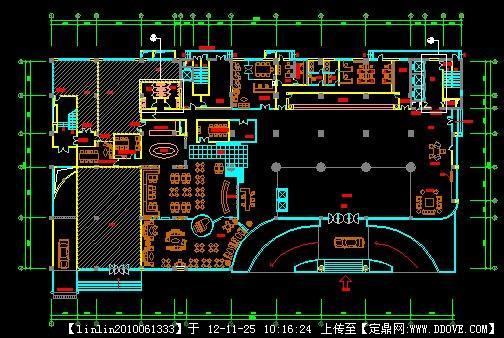 酒店设计-某酒店大堂平面图.dwg