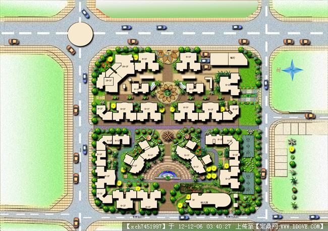小区景观规划彩平面图