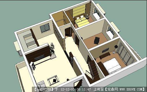 样板房家装su精品室内场景模型的下载地址图片