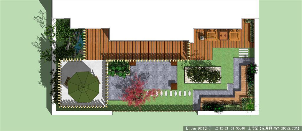 一别墅庭院景观设计图片