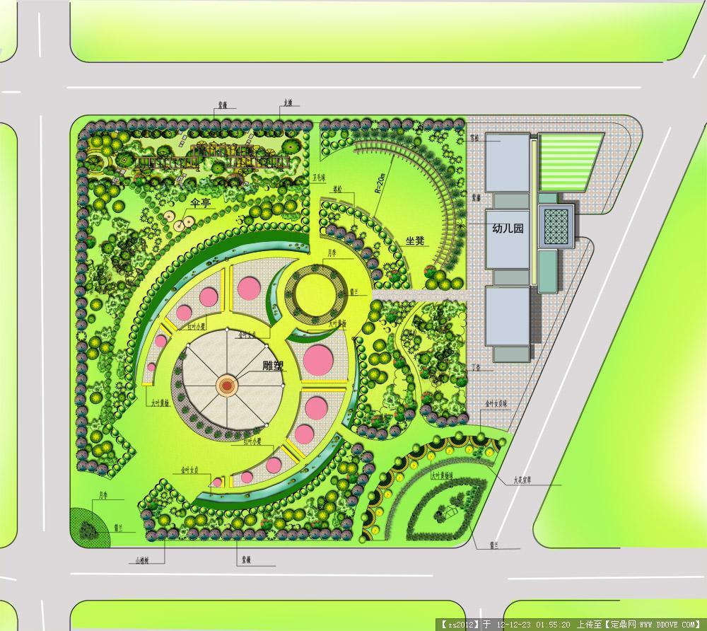地产景观设计平面psd分层效果图
