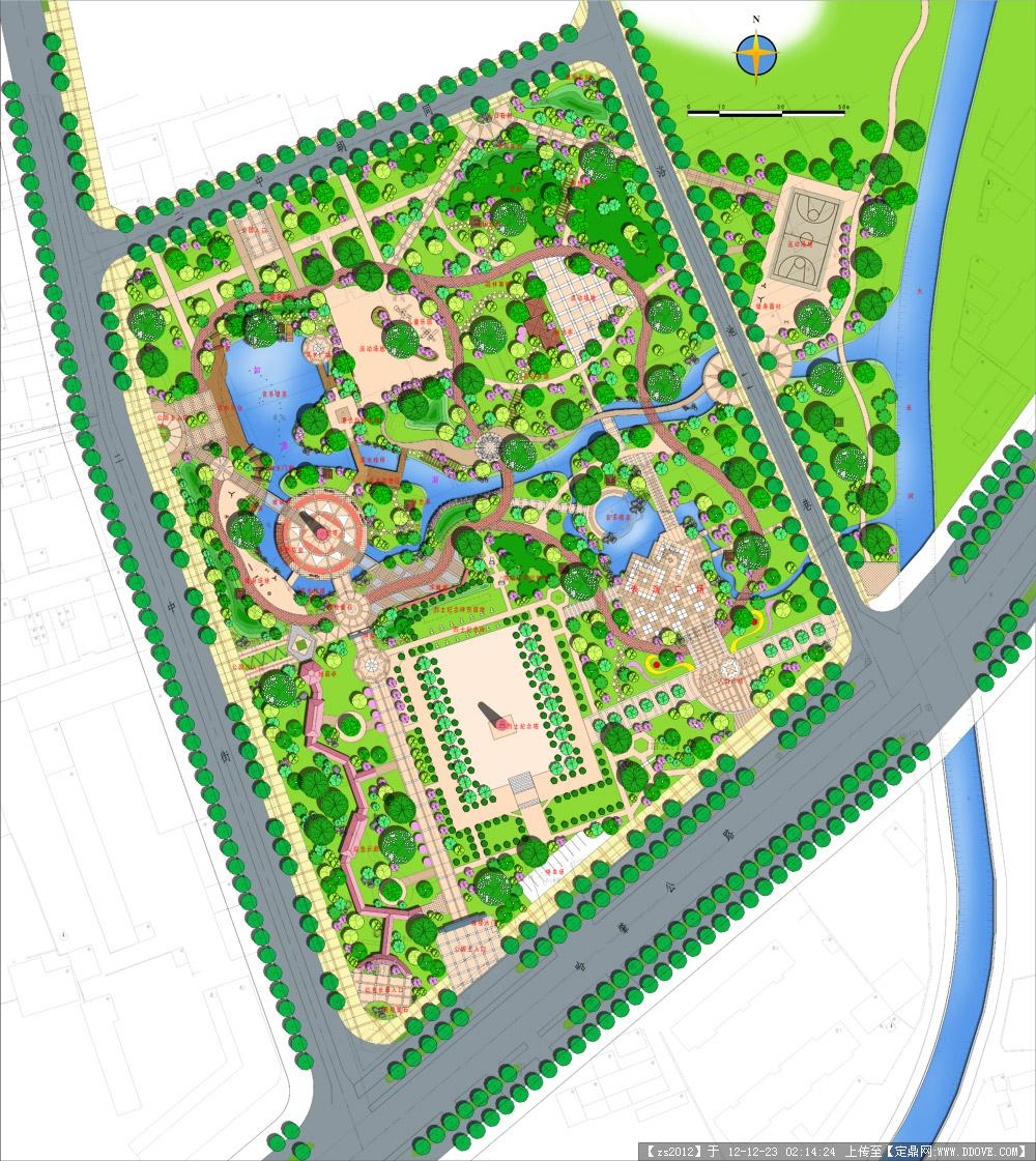 公园景观规划设计平面psd分层效果图