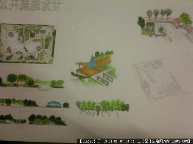 公共景观庭院手绘设计的下载地址,园林效果图,手绘,.
