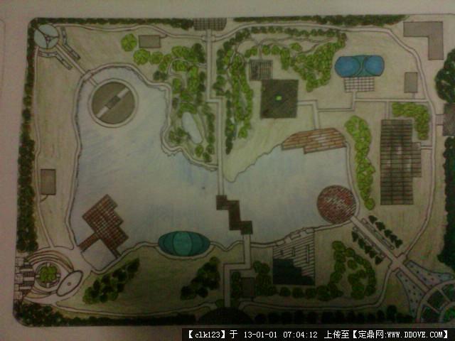 公共景观庭院手绘设计
