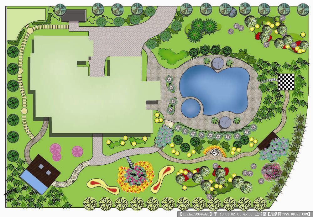 别墅绿化平面效果图