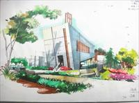 建筑 手绘 建筑效果图/很好的马克笔手绘图...