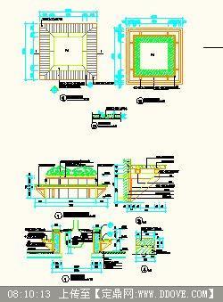 方形圆形树池施工图