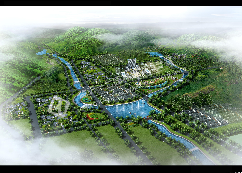河道规划效果图的图片浏览,园林效果图,滨水景观,园林