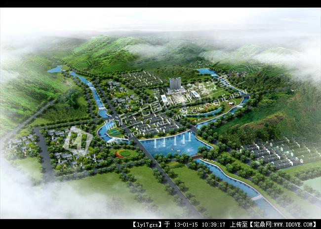 河道规划效果图的图片浏览,园林效果图,滨水景观,园林景观设计施