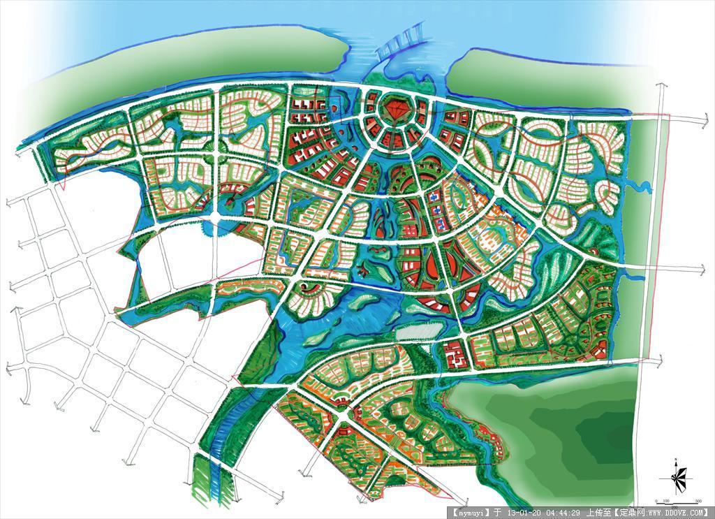 海口滨江新城规划方案图图片