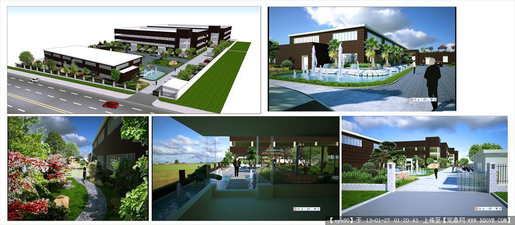 单位厂区_园林设计,景观设计,园林施工,园林植物,景观图纸,效果图