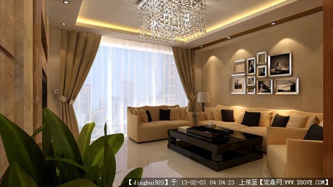 室内设计效果图 中式家装