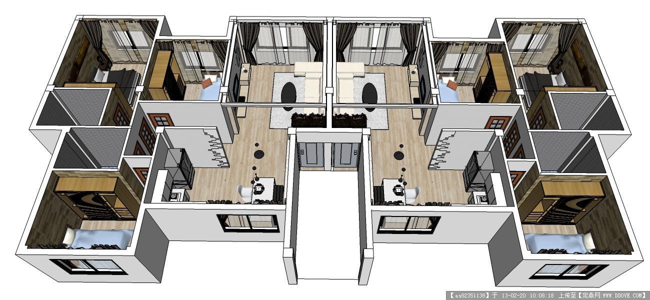 室内设计-su整体透视.jpg 原始尺寸:1300 * 600