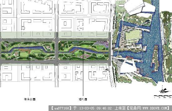 某商务文化中心中央公园景观设计二期方案扩初整套文本
