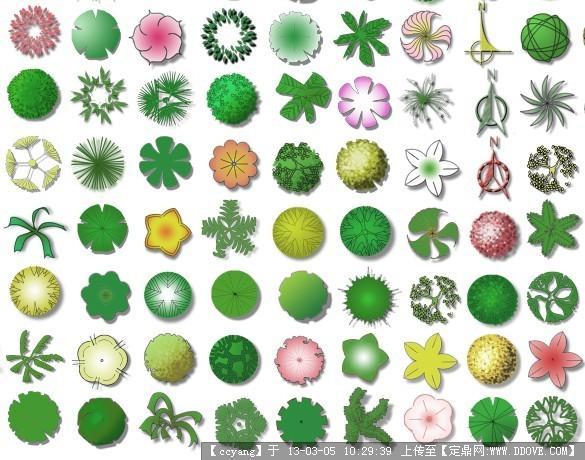 植物平面图例素材 psd