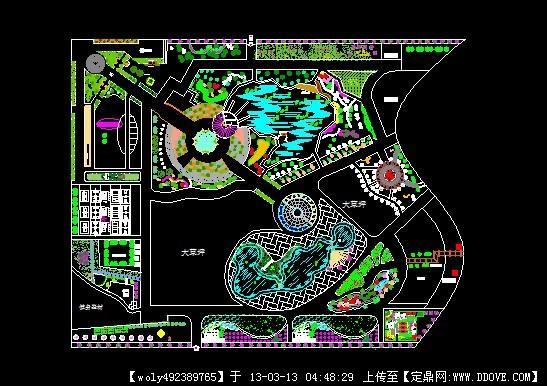 城市公园景观设计方案平面图