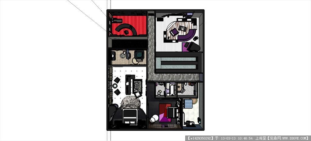 室内设计CAD布局图、立面图cad不关掉约束图片