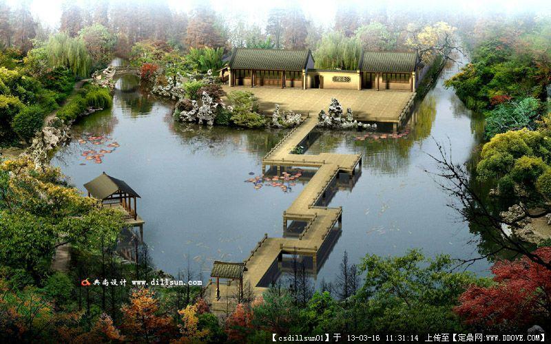 园林景观 西湖源项目效果图欣赏