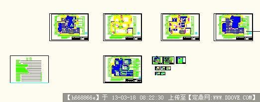蓝波湾9#602房复式设计施工图 别墅全套图纸 室内地中海装修方案图