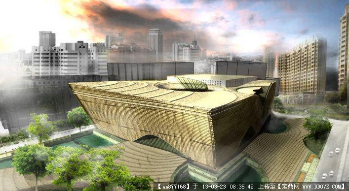 西安音乐学院音乐厅SU精品建筑设计模型