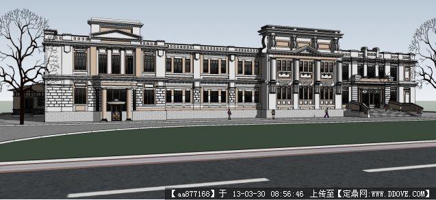 哈尔滨老建筑su精品建筑设计模型