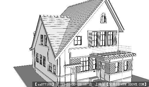某欧式风格别墅su精品建筑设计模型的下载地址