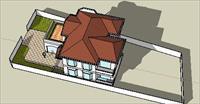 私人别墅sketchup模型