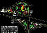 高速公路绿化工程设计平面图