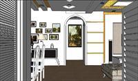 欧式风格装饰SU(草图大师)室内场景模型