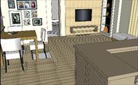 亮丽时尚的客厅SU(草图大师)精品室内场景模型