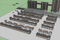 商住楼模型